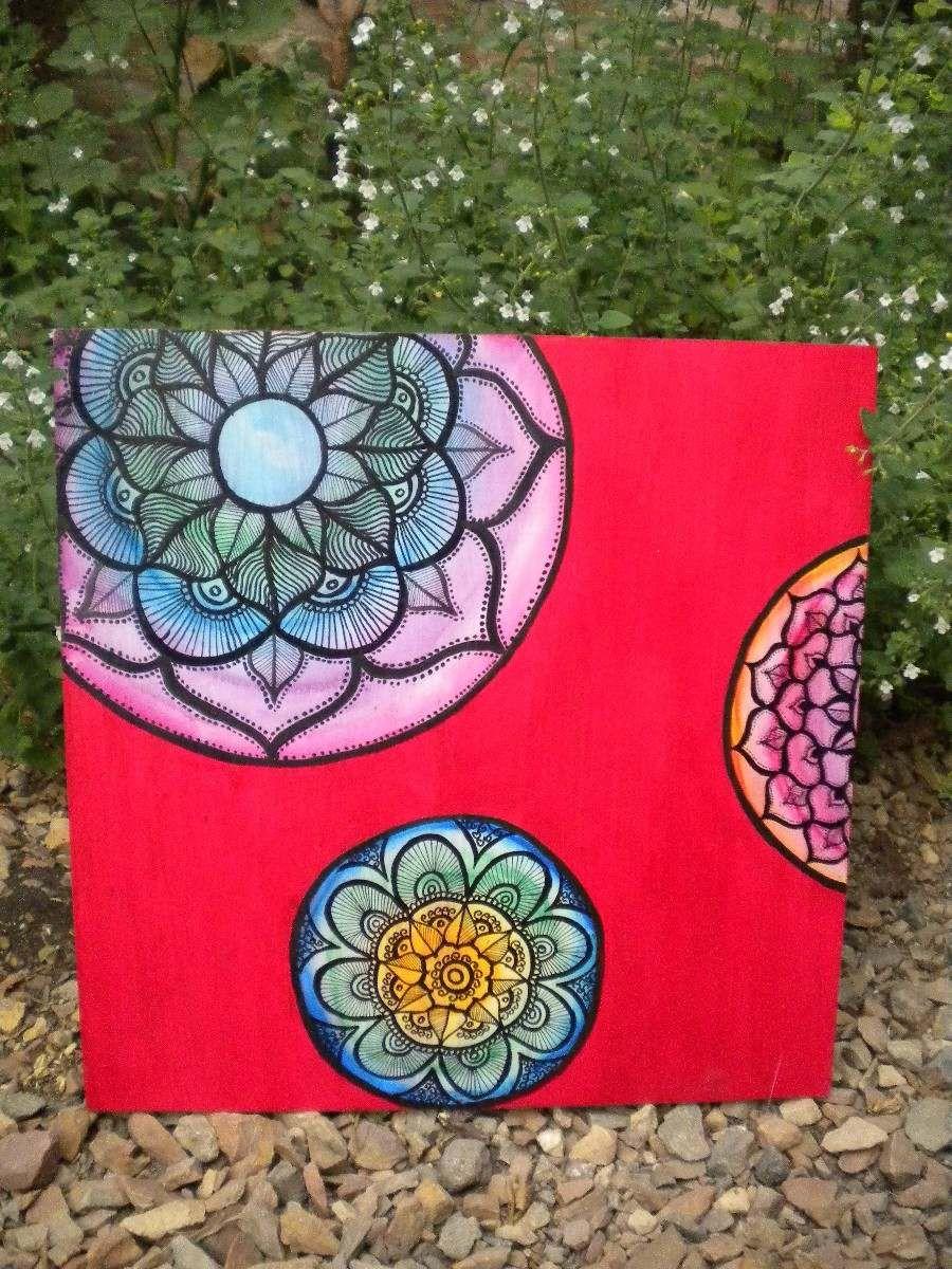 Cuadros mandalas pintado a mano cuadros pinterest - Cuadros pintados a mano online ...