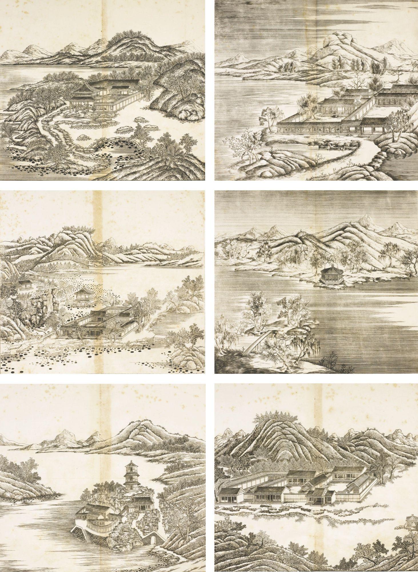 Matteo Ripa 1682 1746 Trente Six Vues De La Demeure Montagneuse Pour Fuir Les Chaleurs Estivales Dynastie Qing Epoque Kangxi 1711 171 Prints Art Artwork