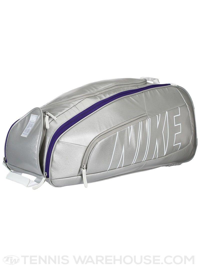best sneakers 9cf11 810b7 Nike Court Tech 1 Racquet Bag Metallic SilverWhite  Tennis Warehouse