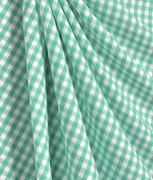 Mint Green U0026 White Gingham Cotton Tablecloth