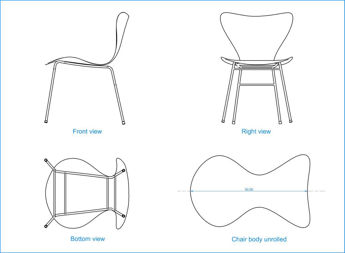 Jacobsen chair serie 7 planos y sillas for Sillas para planos