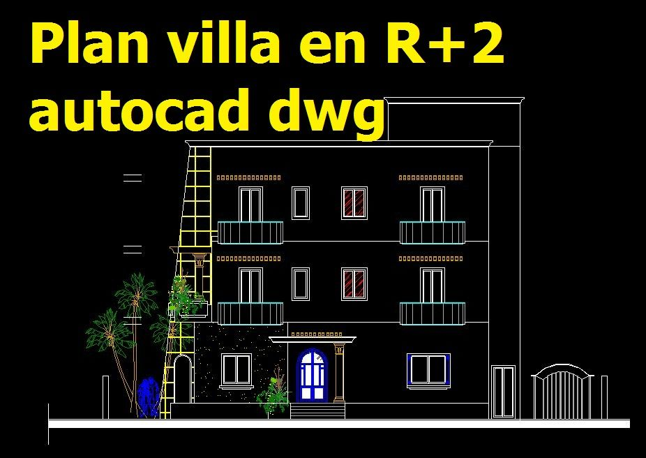 Pin By Mohamed Benalia On Plans Autocad Dwg Telechargeables Gratuitement Autocad How To Plan Villa