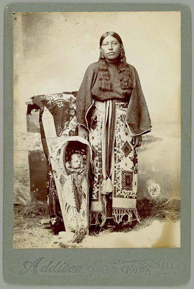 Kiowa Mother And Baby.