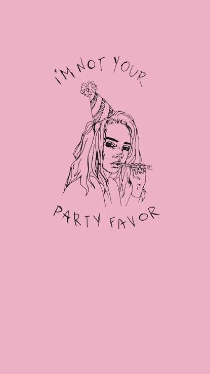 Billie Eilish Don T Smile At Me In 2020 Billie Pink Lyrics Billie Eilish