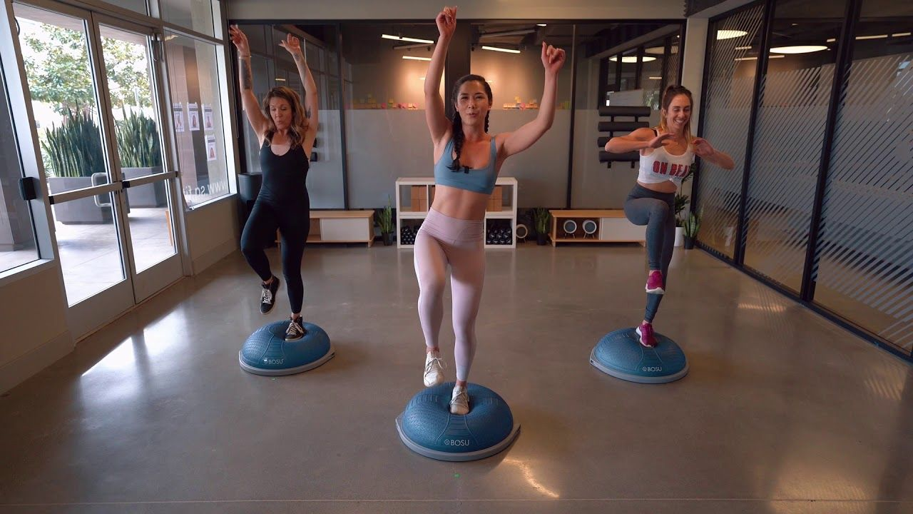 At Home Workout Motivation With The Bosu Balance Trainer On Beat Fitness Youtube In 2021 Balance Trainer At Home Workouts Workout