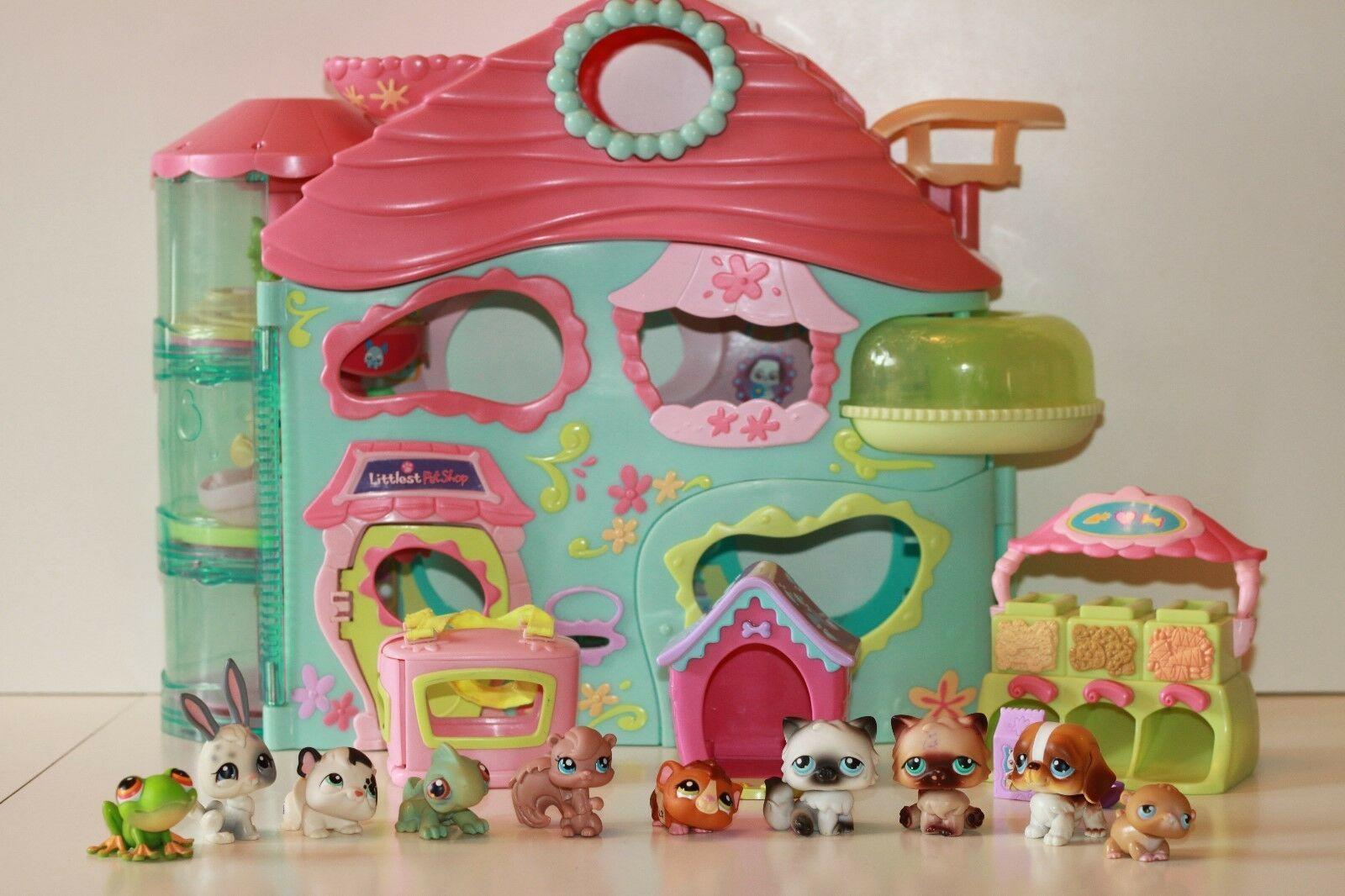 Biggest Littlest Pet Shop Lps House Play Set 10 Figures Hasbro Bundle 4 Ebay Little Pet Shop Toys Lps Toys Lps Littlest Pet Shop