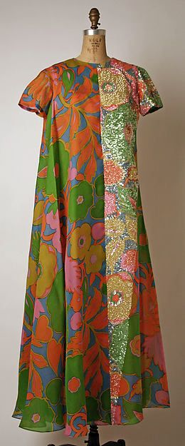 Evening dress, Madame Grès, 1965-70