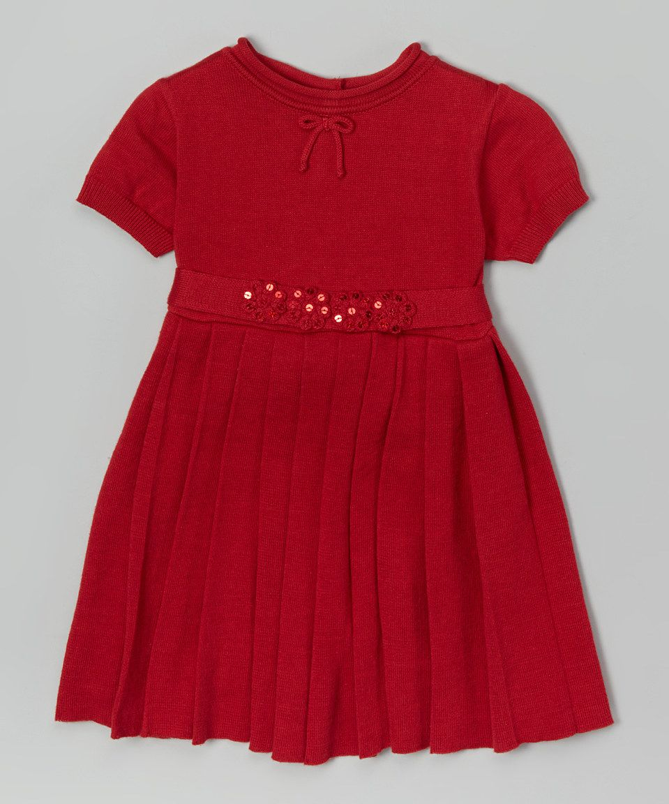 This red pleated dress infant u toddler by carriage boutique is