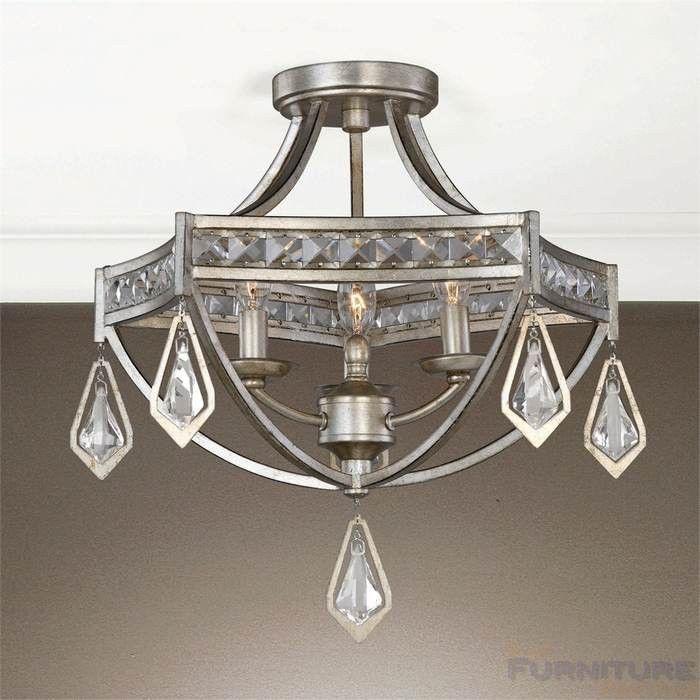 Uttermost tamworth 3 lt semi flush mount 22275 semi flushmountceilinglights