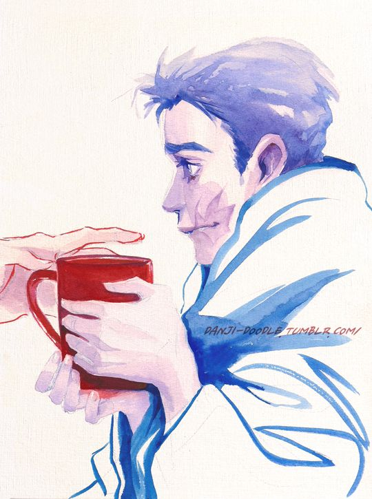 A warm hand and a cup of tea.
