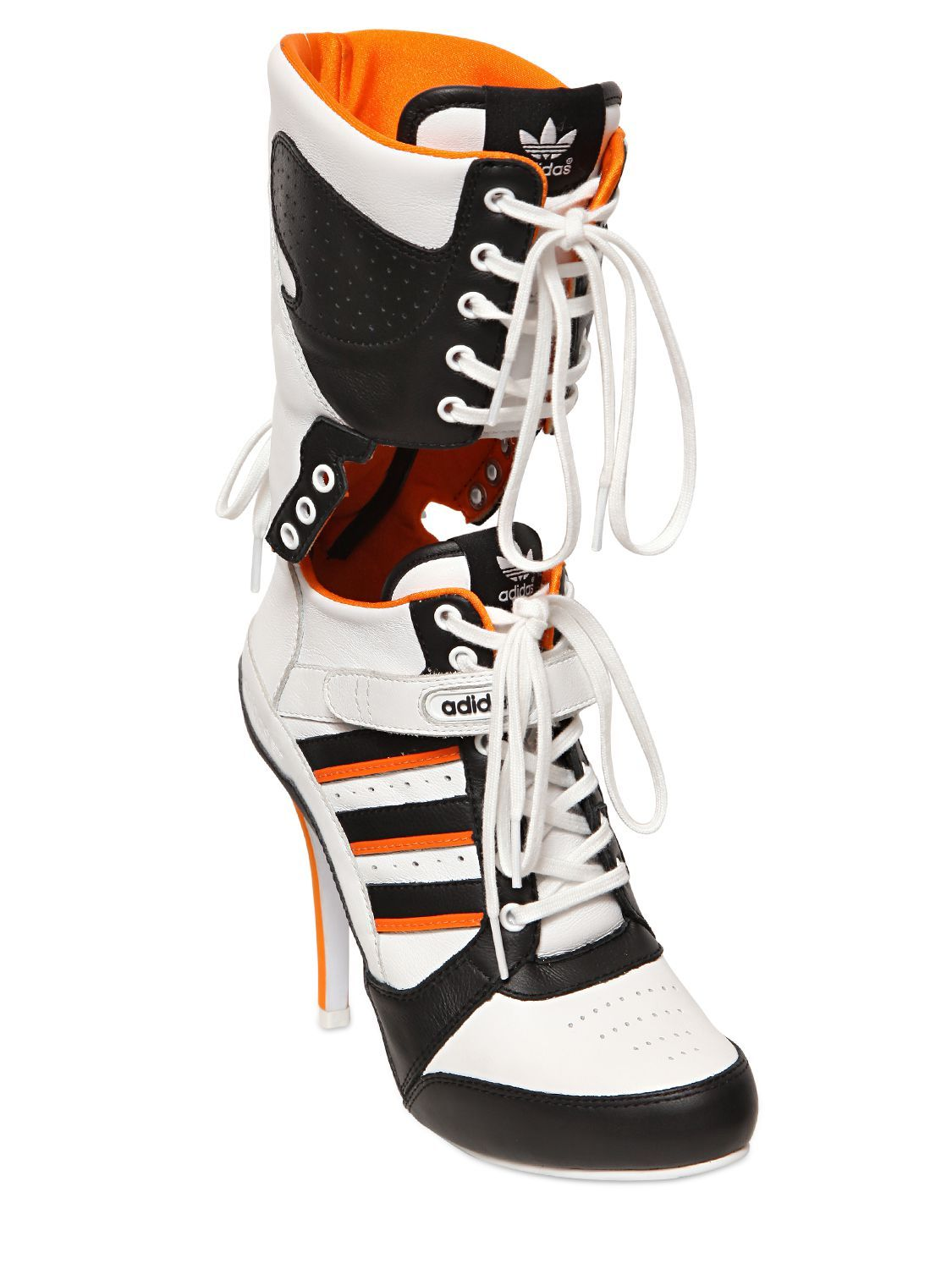 Jeremy Scott Adidas 130mm Heeled Sneakers | Leather boots