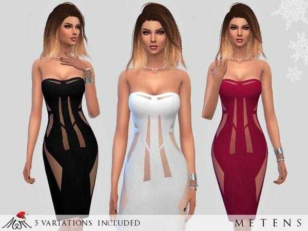 Broken Dress by Metens at TSR via Sims 4 Updates