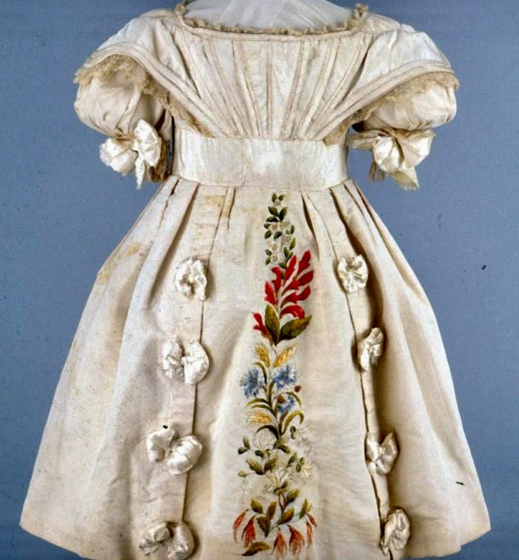 Embroidered Child's Dress circa 1825