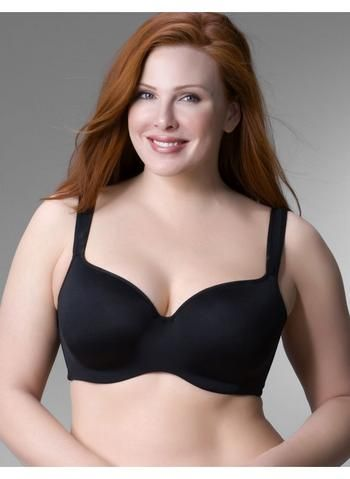 3eac2f604b9ab Lane Bryant Smooth balconette bra - Women s Plus Size Black - Size 48D   Glimpse by TheFind