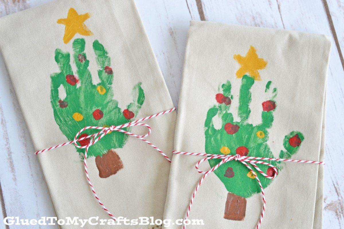 Handprint Christmas Tree Napkins