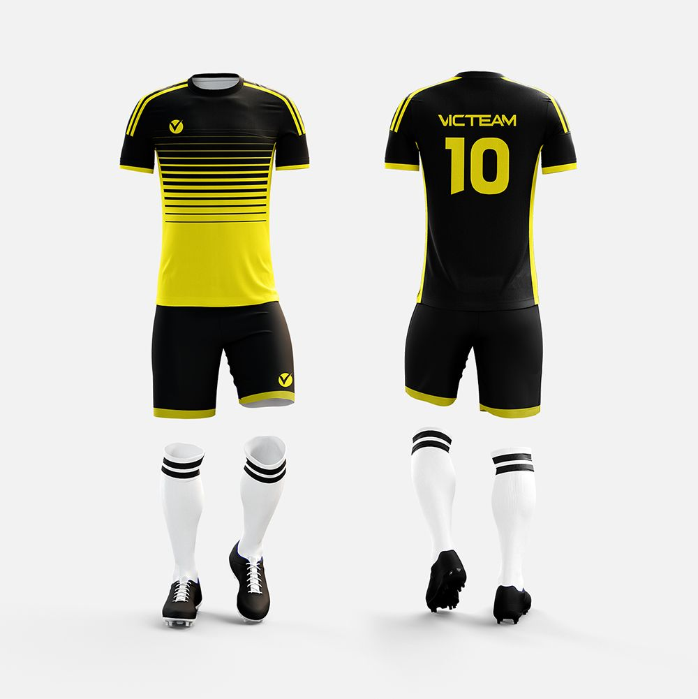 Black Yellow Soccer Jersey Soccer Jersey Sports Soccer