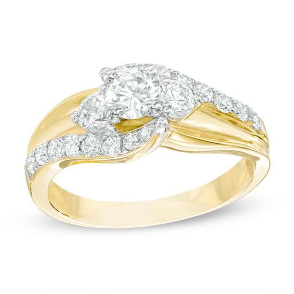 1 CT. T.W. Diamond Bypass Past Present Future® Engagement