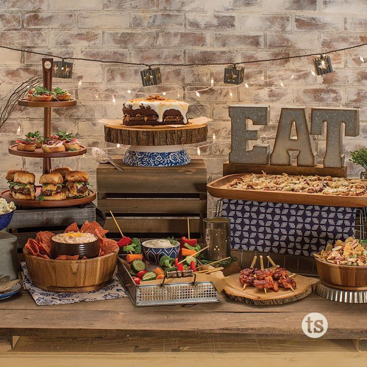 Outdoor Buffet Bar With Rustic Industrial Theme In 2019