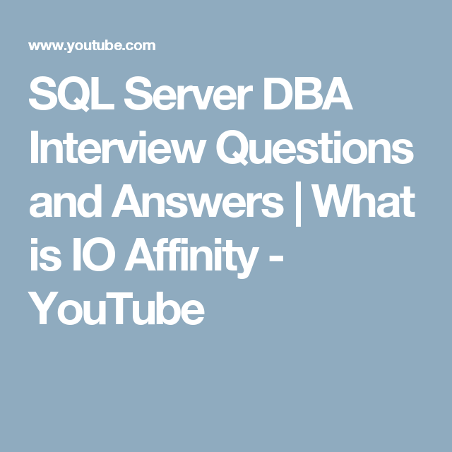 sql server dba interview questions and answers