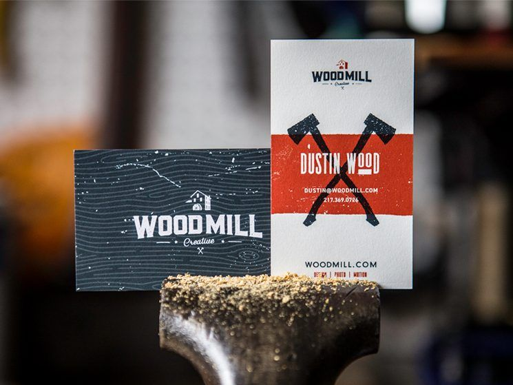 Dustin wood business card wood business cards business cards and dustin wood designed these self promotional business cards for woodmill a creative agency owned reheart Choice Image
