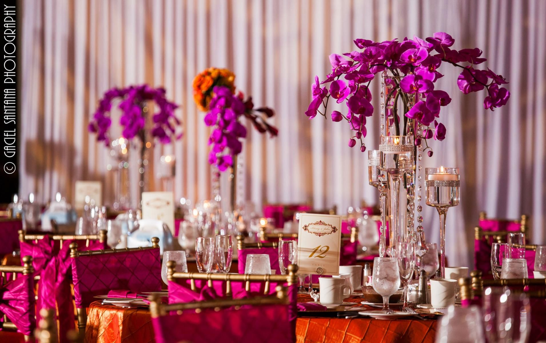 CRYSTAL ORCHIDS - Suhaag Garden | Reception | Pinterest | Weddings