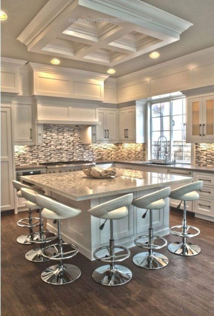 45 Marvelous Modern White Kitchen Ideas For Excellent Home Cuisine Moderne Cuisine Moderne Design Et Cuisine Contemporaine