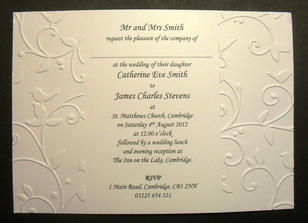 Wedding Invitation Sample Text | Wedding Images | Pinterest ...