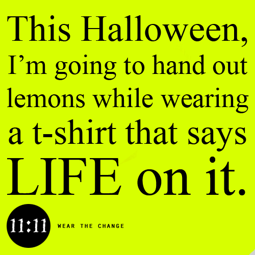 """A positively great idea! """"This Halloween, I'm going to"""