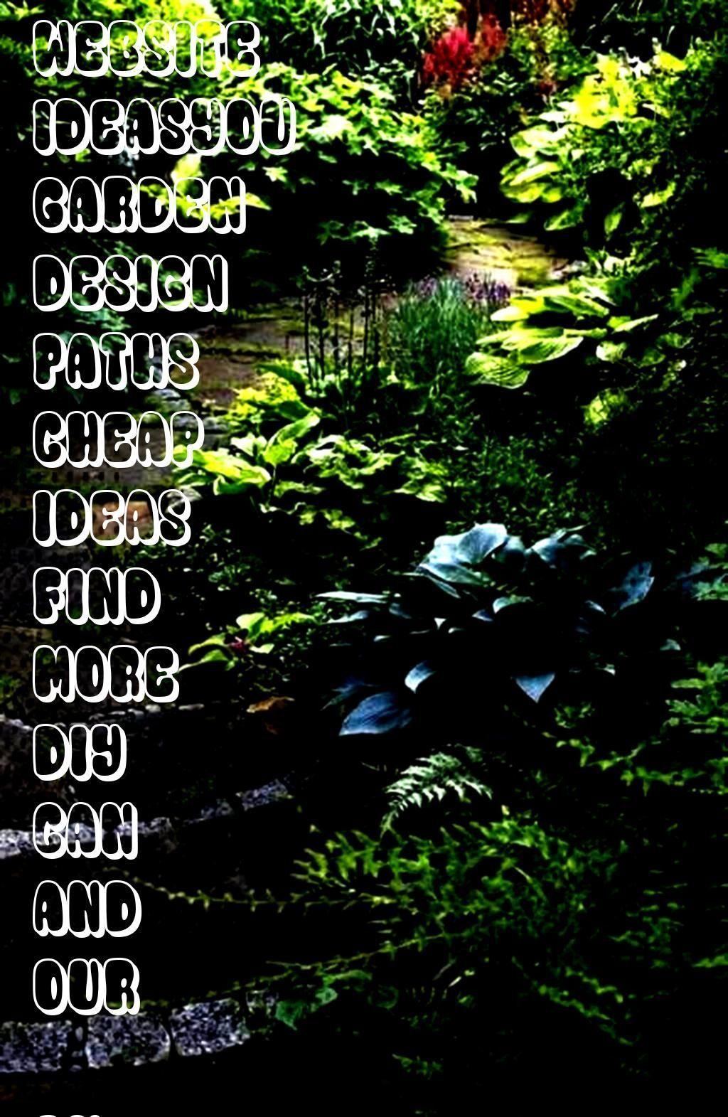 Photo of #website73 #ideasyou #garden #design #paths #cheap – –