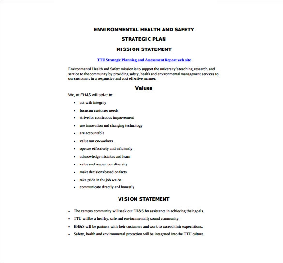 15+ Free Health And Safety Plan Templates | MS Word & PDF ...
