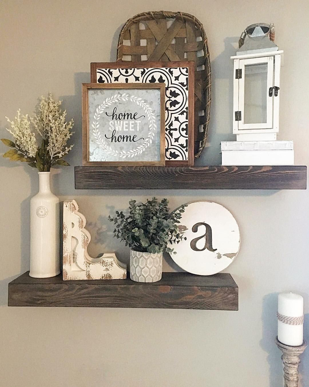 Floating shelves, floating shelves decor, shelf decor ... on Shelf Sconces For Living Rooms Contemporary id=30751