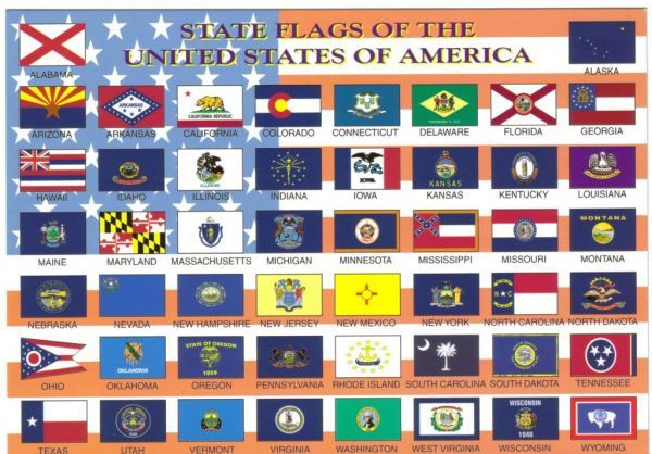States List Usa American State Flags State Flags U S States