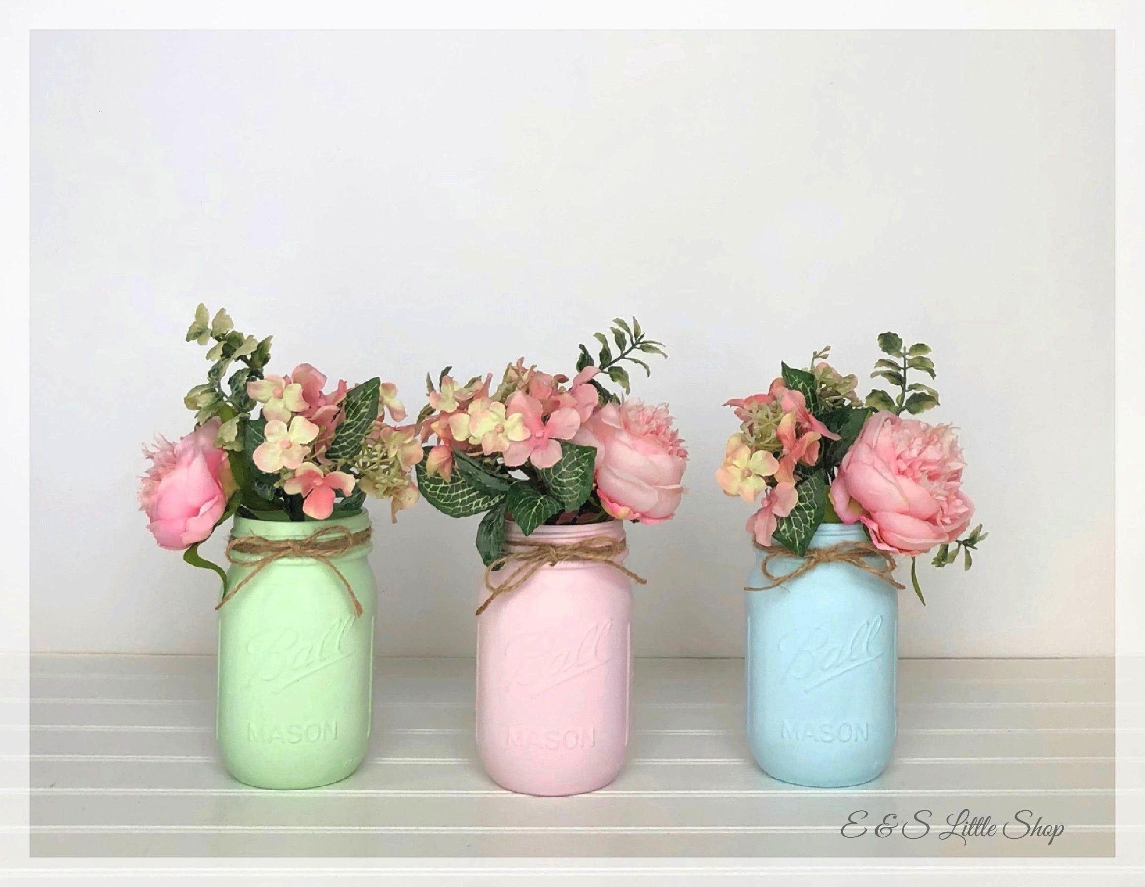 to Set of 3 Pastel Mason Jar-Easter Decor-Shabby Chic Decor-Baby Shower Decor-V... Items similar to