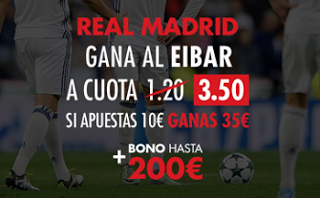 el forero jrvm y todos los bonos de deportes: Sportium Real Madrid gana Eibar supercuota 3,5 nue...