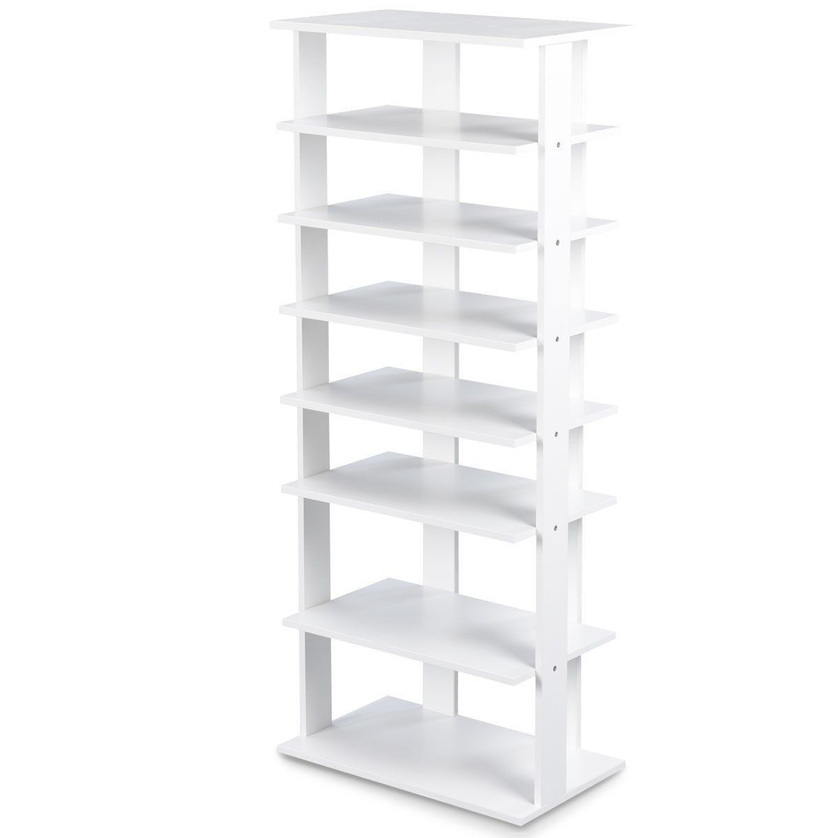 7 Tier Dual 14 Pair Shoe Rack Free Standing Concise Shelves Storage 60 95 Free Shipping This F Wooden Shoe Storage Shoe Rack Entryway Shoe Rack Organization