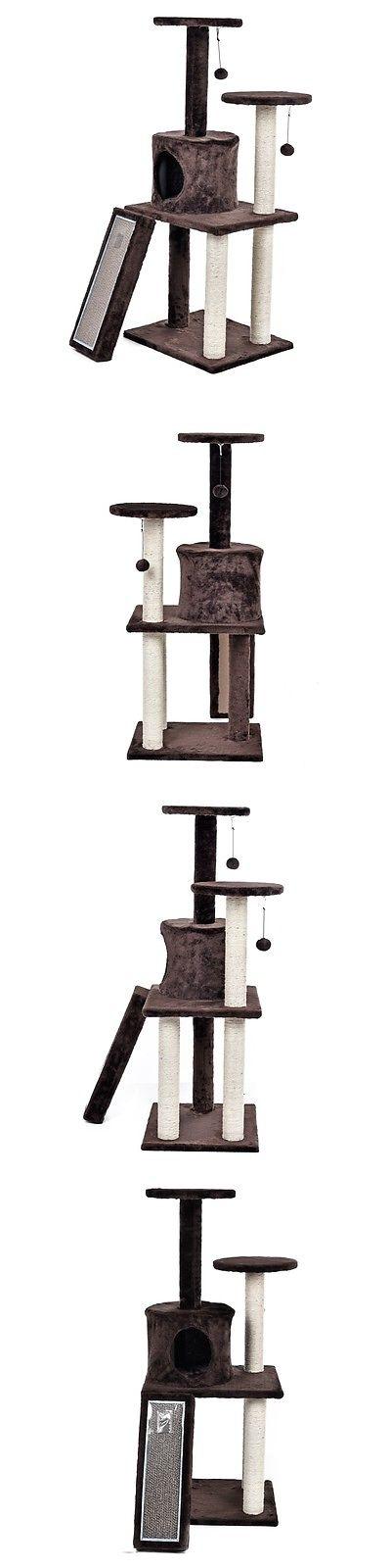 Animals Cats: 46u0027u0027 Pet Cat Playset Cat Tree Condo Furniture Scratching  Tower Kitten