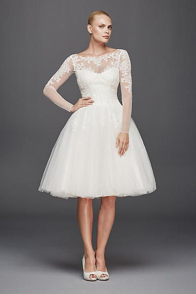 Truly Zac Posen Long Sleeved Short Wedding Dress ZP341642 Short Wedding Dre