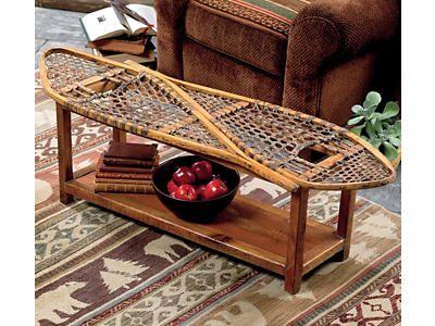 Vintage Snowshoe Coffee Table Rustic Cabin Decor Vintage Home