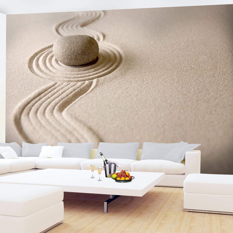 Fototapete Sand Garten 396 x 280 cm Vlies Wand Tapete