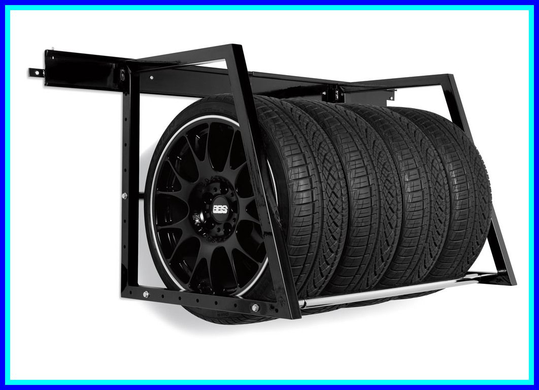 93 Reference Of Tire Rack Wall Garage In 2020 Tire Storage Tire Storage Rack Garage Accessories