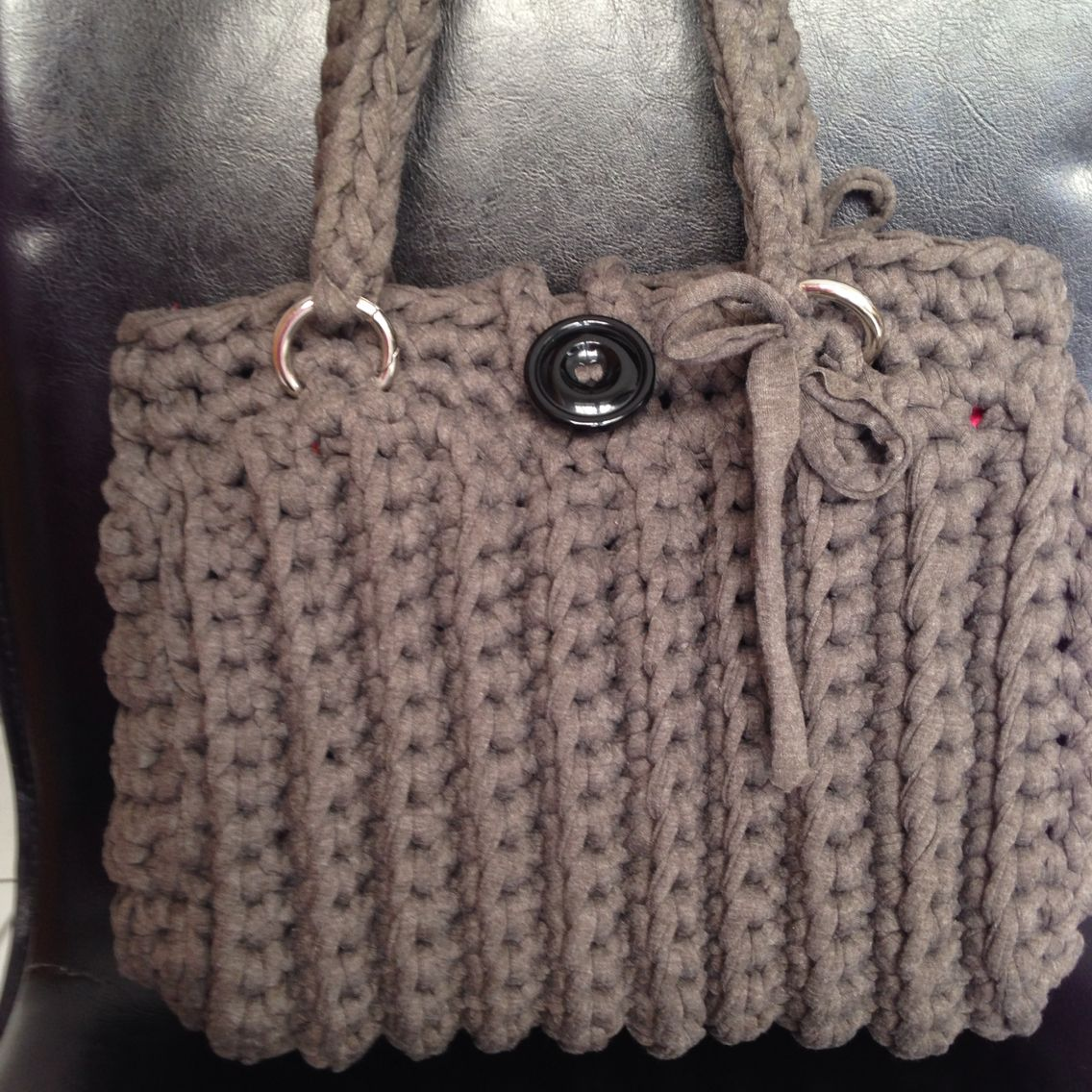 Tasche aus Textilgarn Anleitung Zpagetti | Knit patterns | Pinterest ...