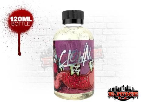 Straight from clown alley.. Circus spun cotton candy floss, spattered with candied razzberry nightmare nectar.