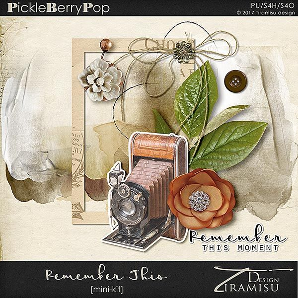 Pickleberrypop :: Kits & Mini Kits :: Remember This ~ Mini Kit by Tiramisu design