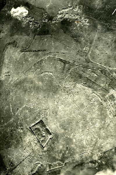 Wwi Aerial Photo Of Vaux Village And Fort De Vaux Verdun March