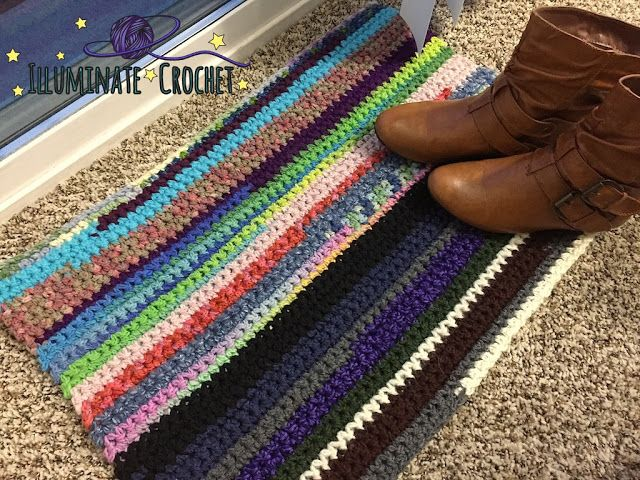 Illuminate Crochet: Glamping with Your Fugly Scrap Rug