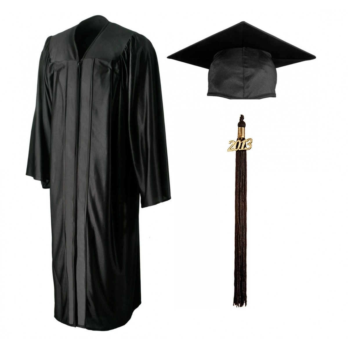 Shiny Black Cap & Gown | Pinterest | Products