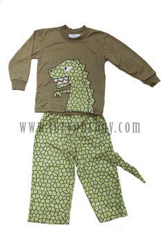 379249769 Boys Dinosaur T-Rex Fleece Pajamas-dinosaur pajamas