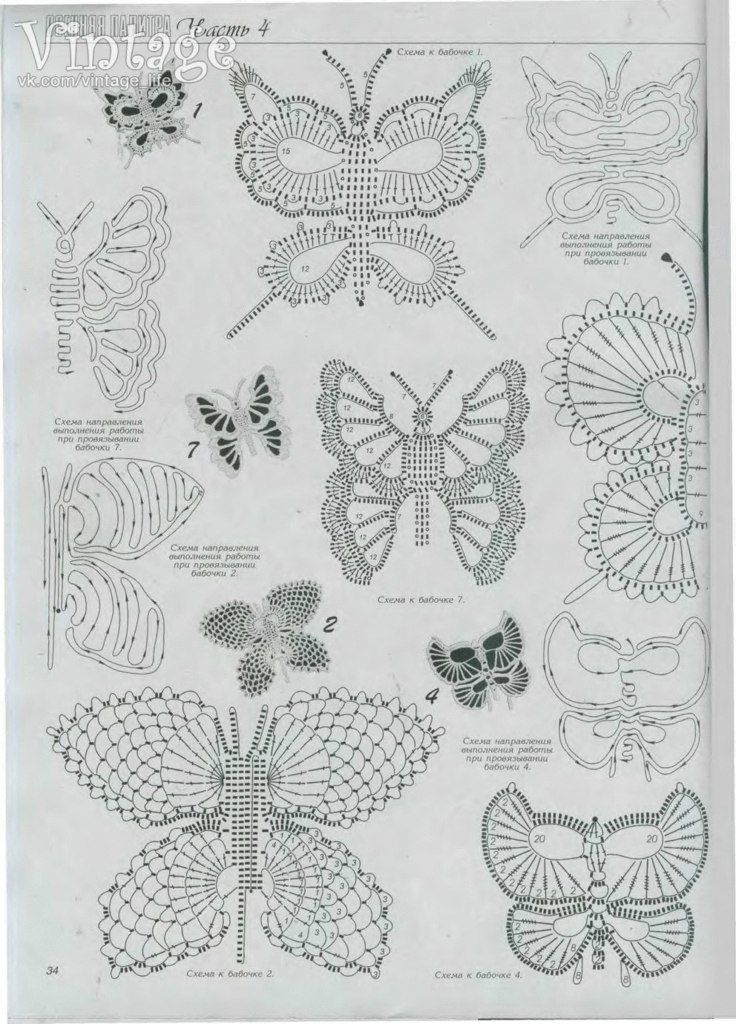 Graficos de mariposas para tejer a crochet. Related Post Patrones ...