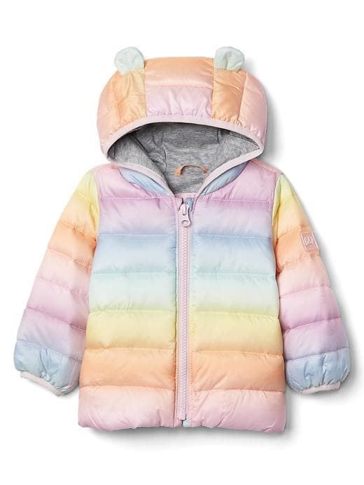 5051be7a4 Gap Baby Coldcontrol Lite Bear Puffer Rainbow Stripe