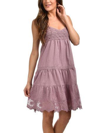 Another great find on #zulily! Purple Crochet Tiered Dress #zulilyfinds